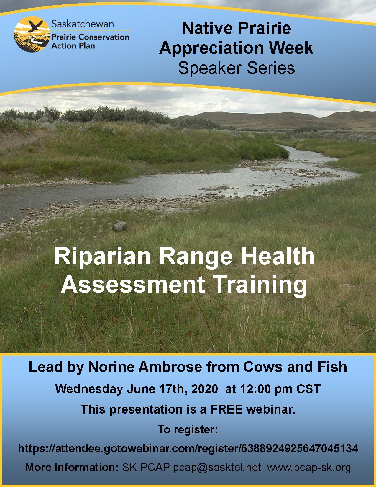 Riparian Health Assessment Webinar