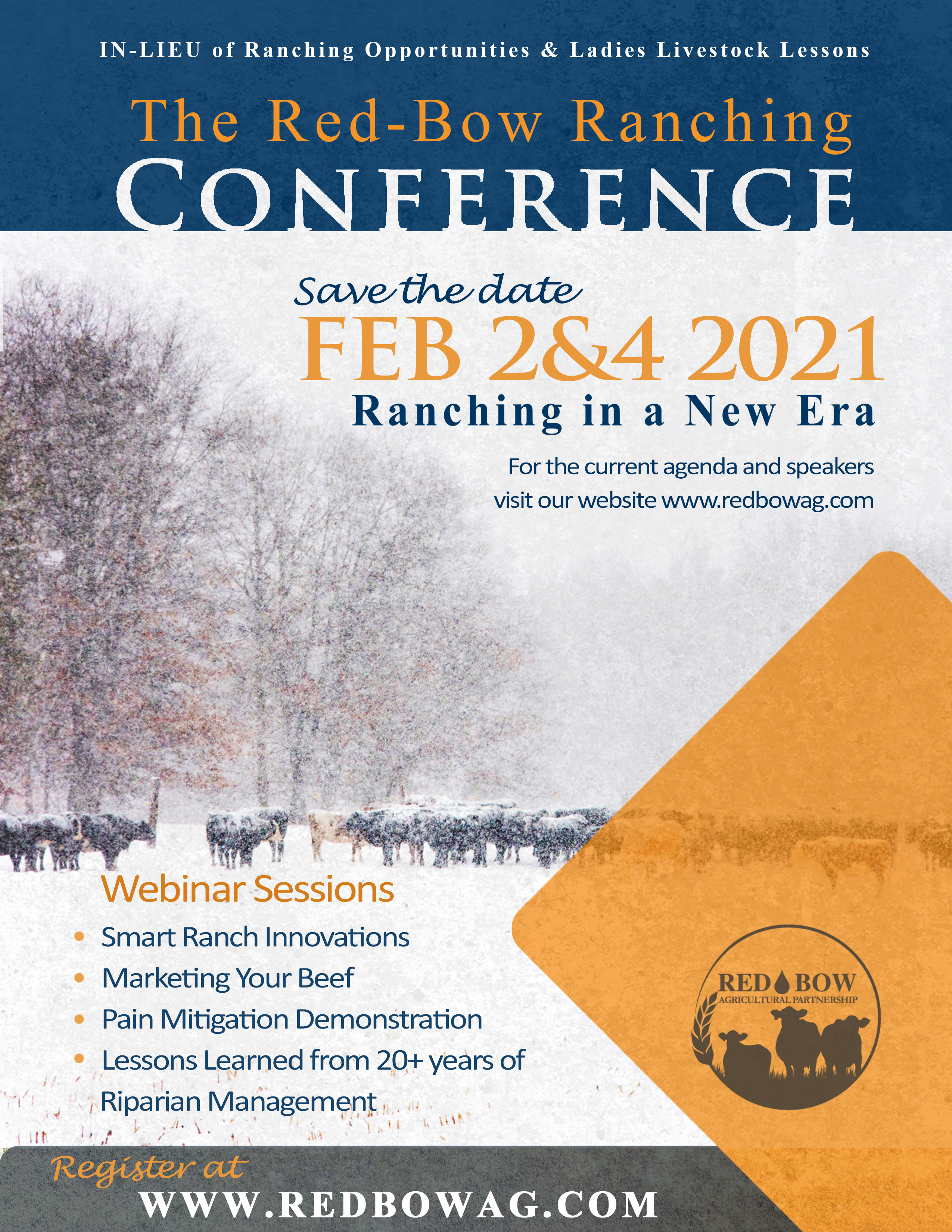 The Red-Bow Ranching Conference (virtual event in-lieu of Ranching Opportunities and Ladies Livestock Lessons)