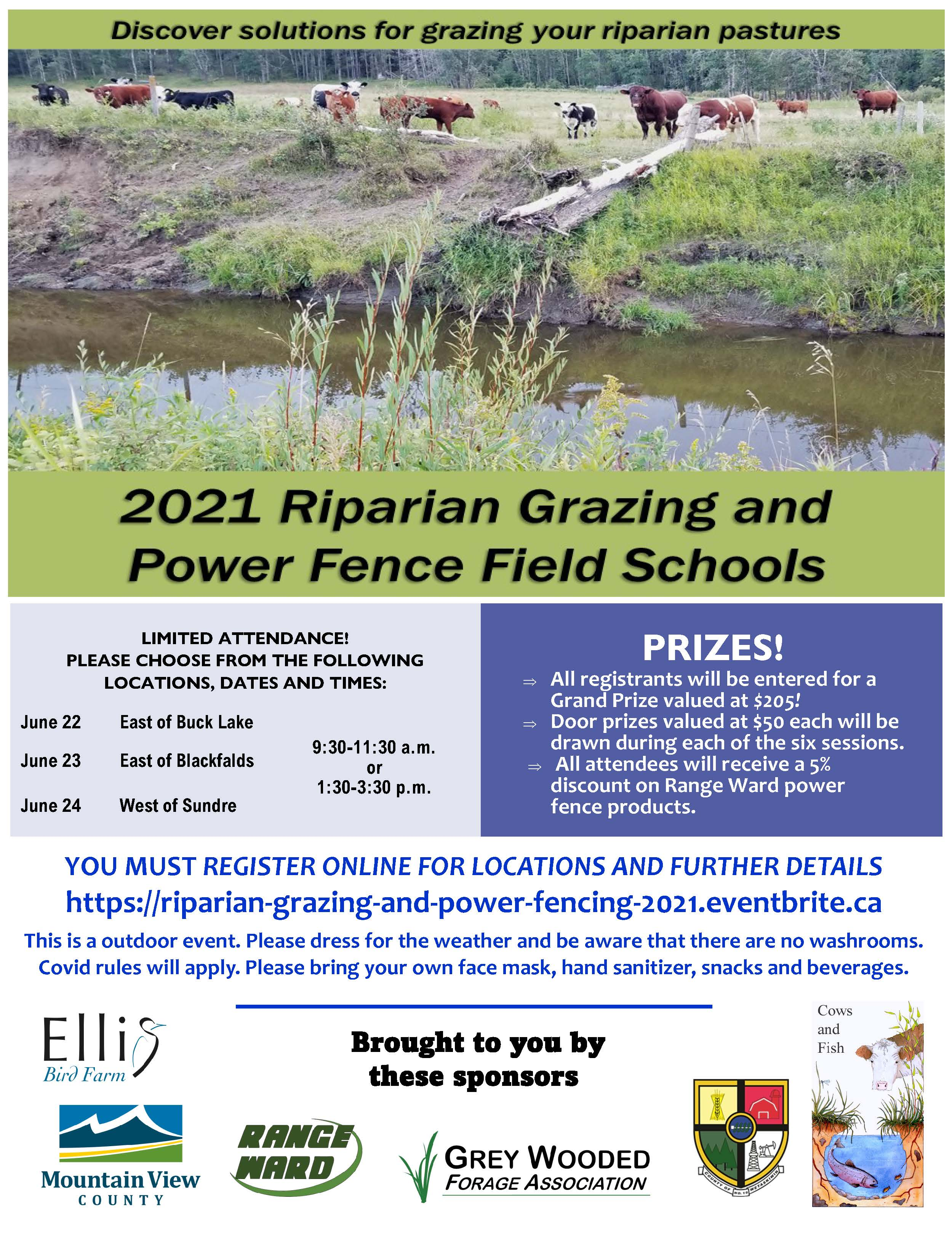 Riparian Grazing and Power Fence Field Schools