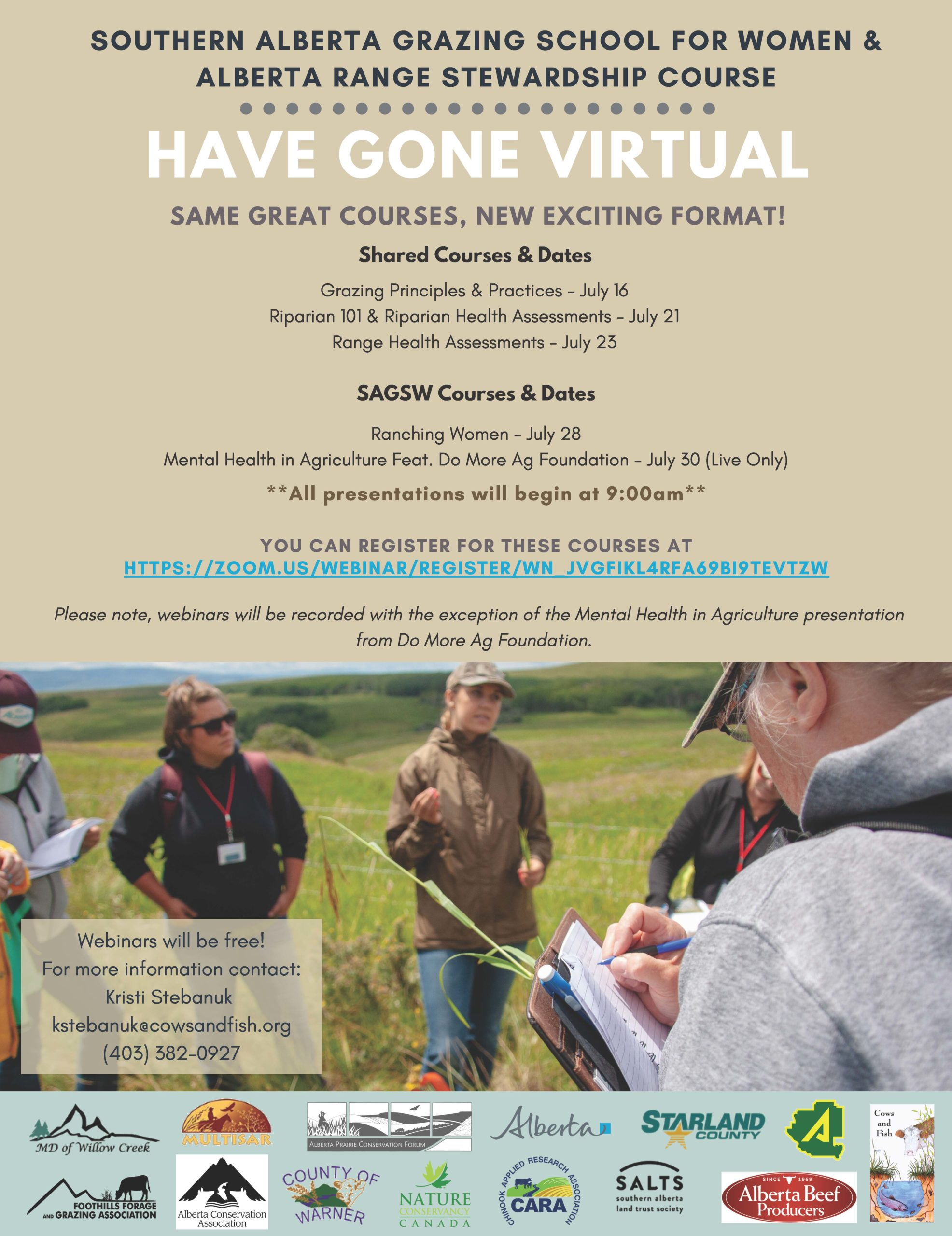 Southern Alberta Grazing School for Women and Alberta Range Stewardship Course