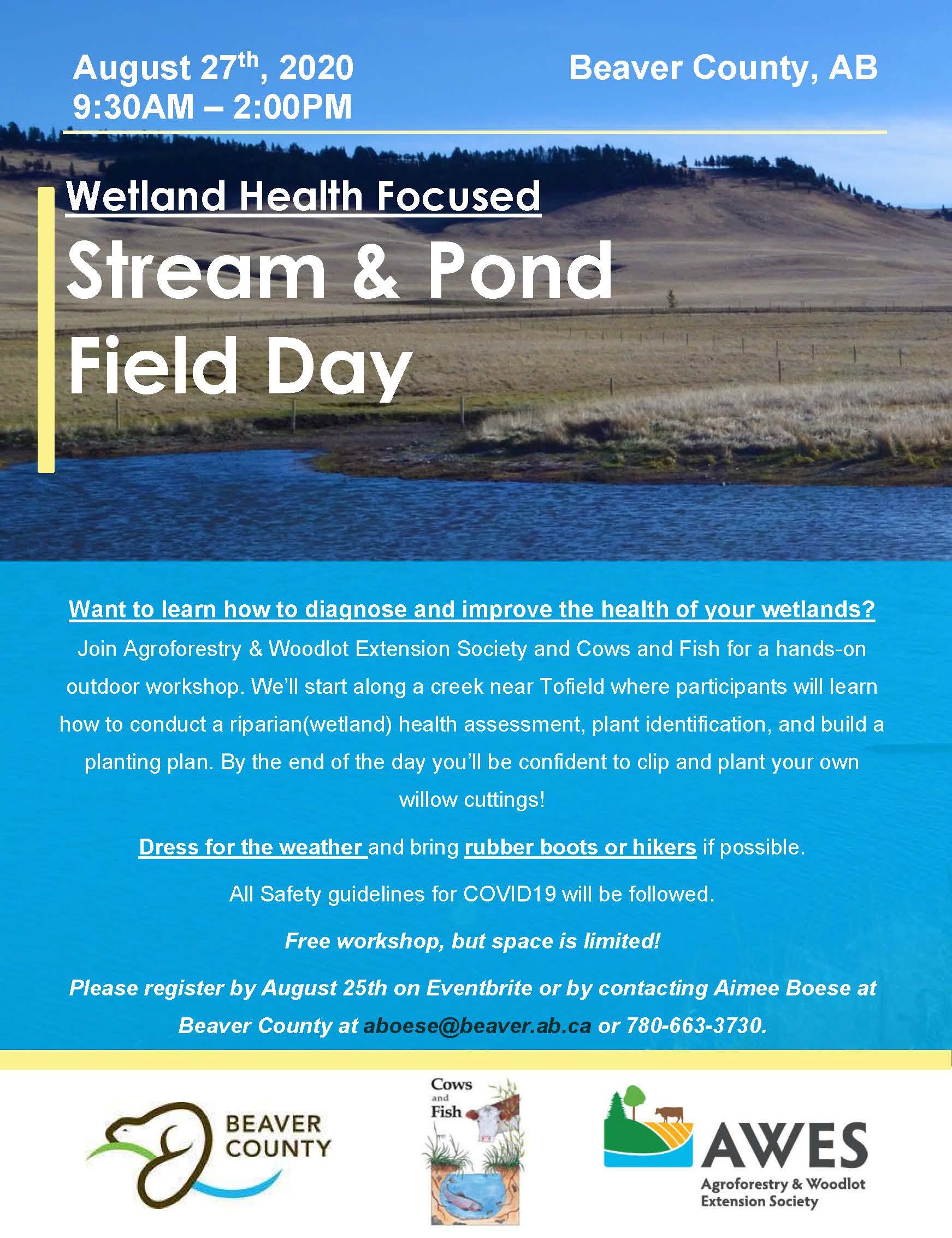 Stream & Pond Field Day