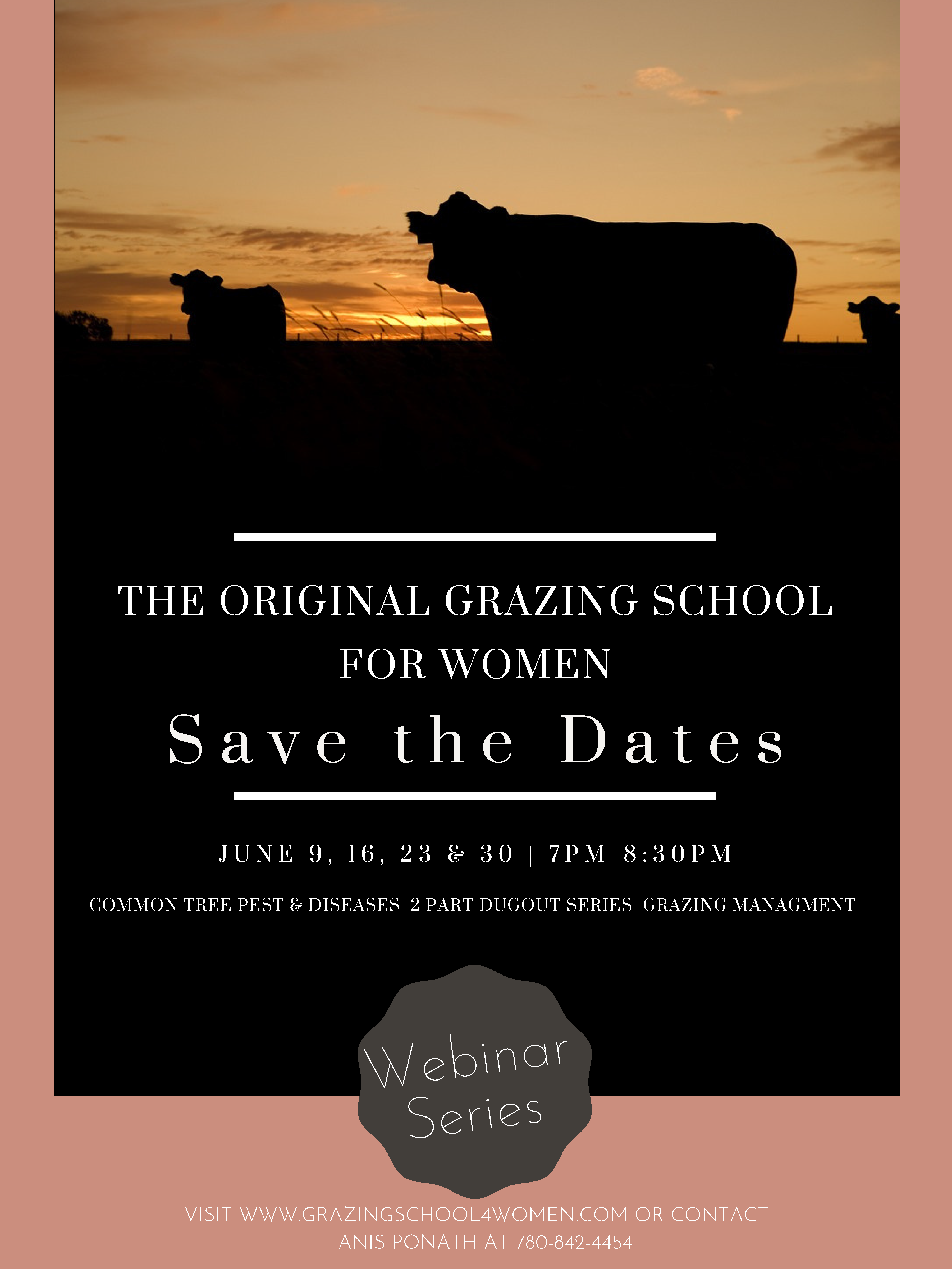 The Original Grazing School for Women - Save the Dates